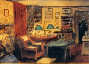 Painting of Robert Benchley's suite at the Royalton Hotel by Nathaniel Benchley.